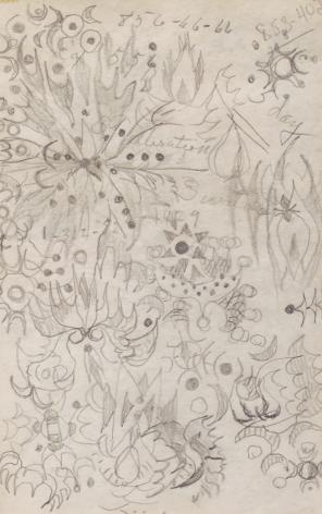 Doodle 10, n.d., Pencil on paper