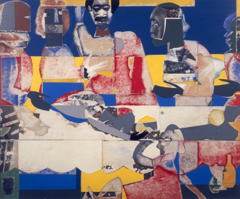 Feast, 1969 Collage on plywood