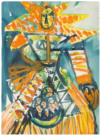 Carnival Eastern Star, 1984-87, Watercolor on paper