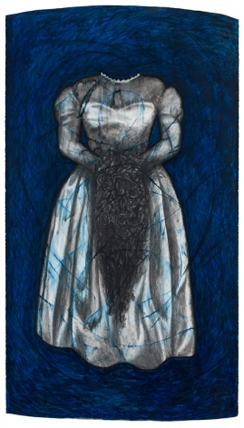 Gown, 1992, Oil stick and charcoal on paper
