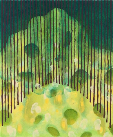 Arsenic and Old Lace, 2015. Acrylic and flashe on canvas, 24 x 20 inches.