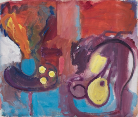 Still Life with Vase of Flowers, Lemons, Chair and Guitar, 1989