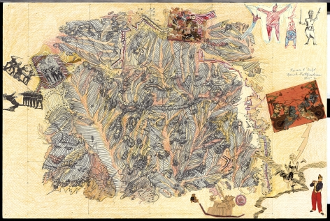 Boys' Art #5: French Fortifications, Rocco d'Anfo, 2001-02, Mixed media on paper