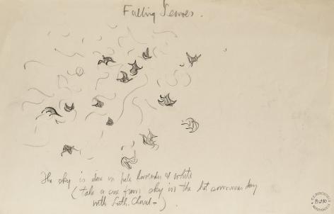 Falling Leaves, n.d., Pencil on paper