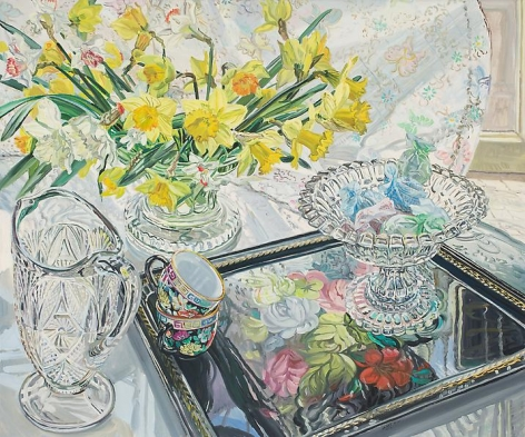 Black Tray and Daffodils, 1995