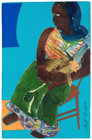 Bayou Fever, The Herb Woman, 1979, Collage and acrylic on fiberboard