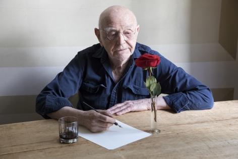 Duane Michals, Duane Sees a Rose, 2018