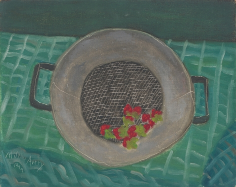 Fresh Strawberries, 1949, Oil on canvasboard