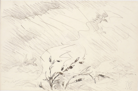Charles Burchfield, Rain and Wind, 1949