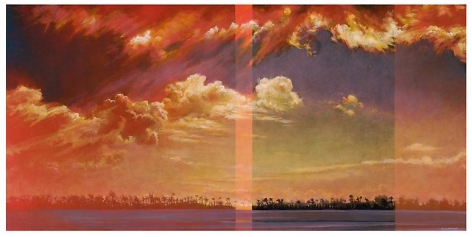 Subtropic, 2012 Oil on canvas in the artist's handmade frame