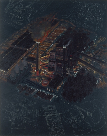 Paper Co., Somerset, Maine II, 1994, Oil on canvas