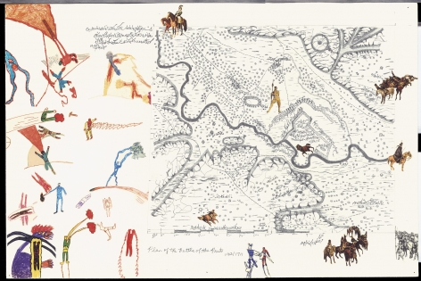 Boys' Art #3: Plan of the Battle of the Prut 1123/1711, 2001-02, Mixed media on paper