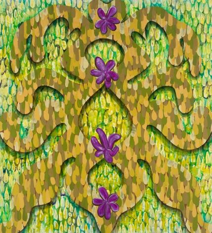 Green Grille with Lavender Blummen (Lisa Rorschach's Garden), 2019
