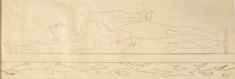 Study for the Sea, 1946, Pencil on tracing paper