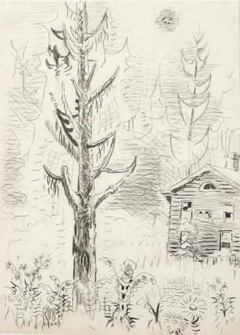 Charles Burchfield, Pine Tree and Star, 1960