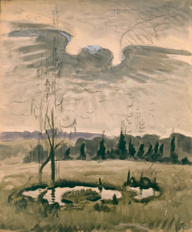 Charles Burchfield, Bird Wing Twilight, 1951