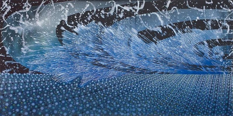 Barbara Takenaga, Two Waves, 2013.