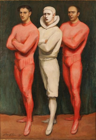Trio, 1937 Oil on canvas, 72 x 50 1/4 inches