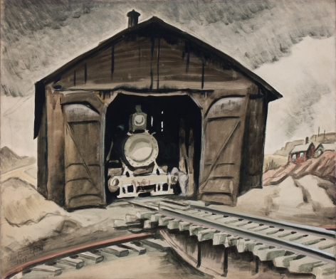 Locomotive Shed (Woodburning Locomotive), 1918