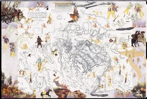 Boys' Art #22: Sevastopol, 2001-02, Mixed media on paper