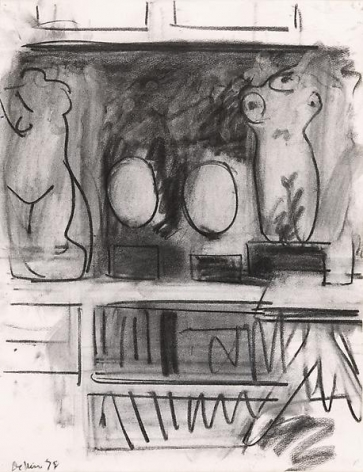 Studio Drawing with Two Torsos and Two Busts, 1978