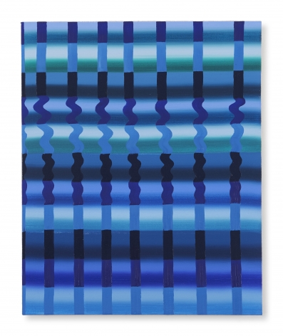Beverly Acha Untitled (blue grid), 2017