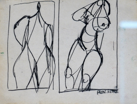 Franz Kline 2 Sketches of Single Figures, n.d.
