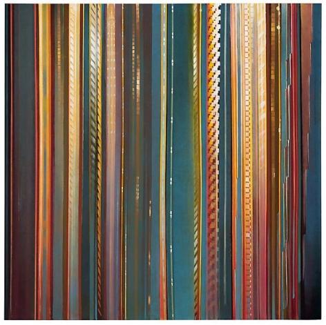 Spectra, 2012 Oil on canvas in the artist's handmade frame