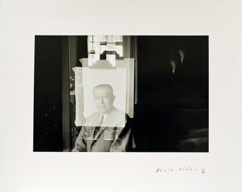 Magritte,c. 1965 Gelatin silver print with hand-applied text