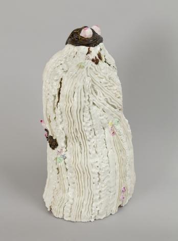 Chocolate Chip Flirt, 2012, Porcelain, tin-glaze, on glaze enamels