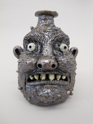 Porcelain face jug by Rebecca Morgan