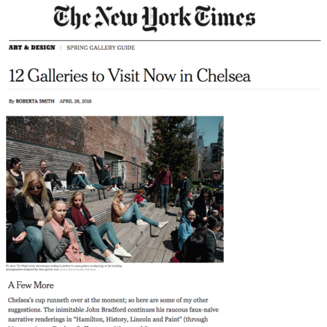 The New York Times, 12 Galleries to Visit Now in Chelsea