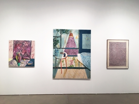 installation of paintings and works on paper