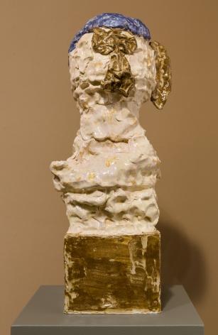 Glazed eathernware sculpture by Gudmundur Thoroddsen
