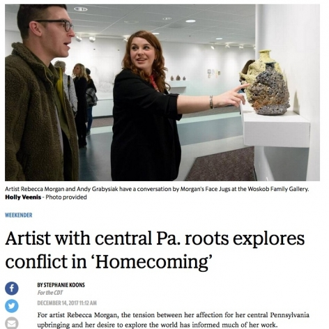 "Centre Daily Times, ""Artist with central Pa. roots explores conflict in 'Homecoming'"""