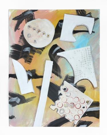 Gouache on paper by Marjolijn de Wit