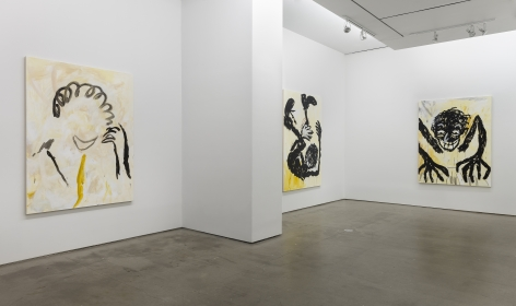 installation of paintings by Ricardo Gonzalez
