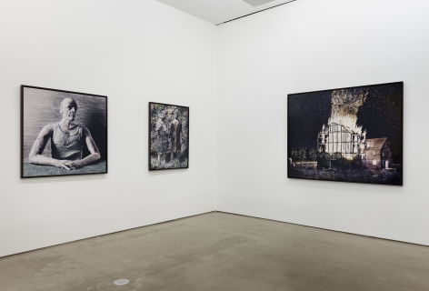 Installation of digital prints by Jasper de Beijer