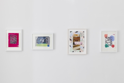 Installation of framed works on paper