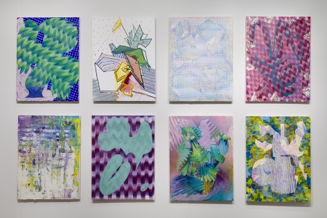 Installation of Todd Kelly paintings at VOLTA art fair