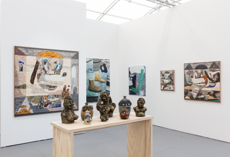 Installation view of UNTITLED Miami booth