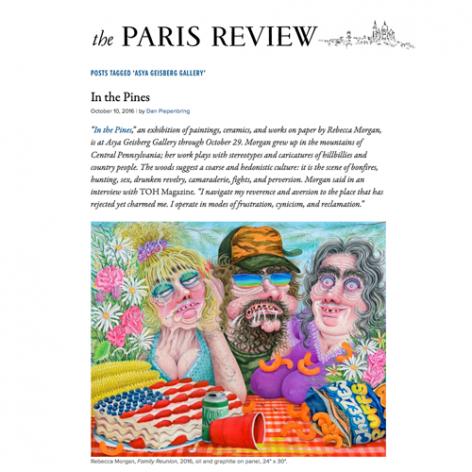 The Paris Review Rebecca Morgan painting