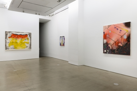 Installation of paintings by Angelina Gualdoni
