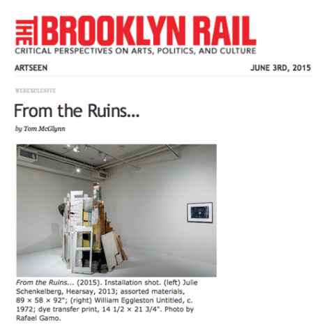 The Brooklyn Rail, From the Ruins by Tom McGlynn