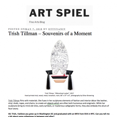 "Art Spiel- ""Trish Tillman – Souvenirs of a Moment"""