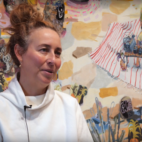 """Image of Melanie Daniel - Melanie Daniel talks with Kelowna Art Gallery about her solo exhibition """"Goin' Where the Climate Suit My Clothes"""""""