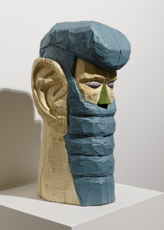 Wood sculpture by Gudmundur Thoroddsen