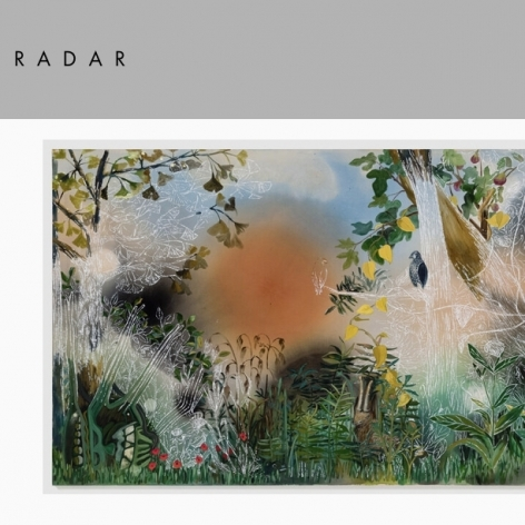 """Painting by Angelina Gualdoni in Radar Poetry in Issue 30 with """"My Friend Says 'Meant' Instead of 'Supposed'"""", by Amy Dryansky"""