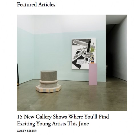 Featured Articles: 15 New Gallery Shows Where You'll Find Exciting Young Artists This June