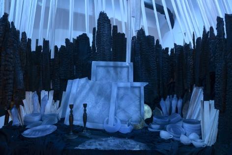 Site specific mixed media installation by Julie Schenkelberg